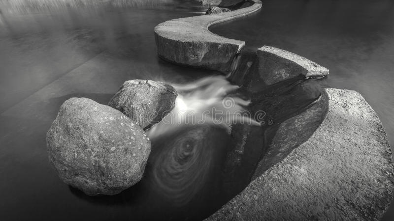 Two stone dams royalty free stock image