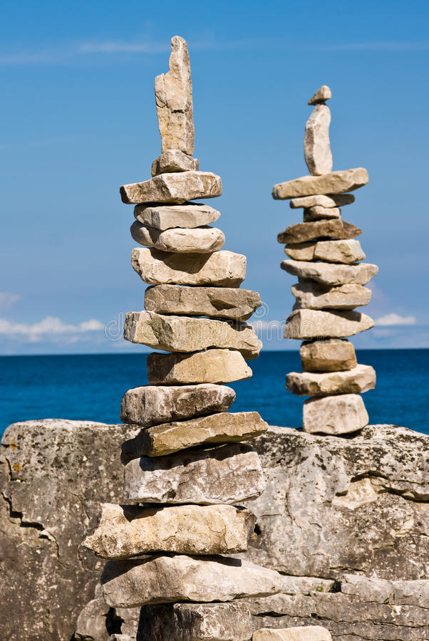 Two Stone Figures stock image