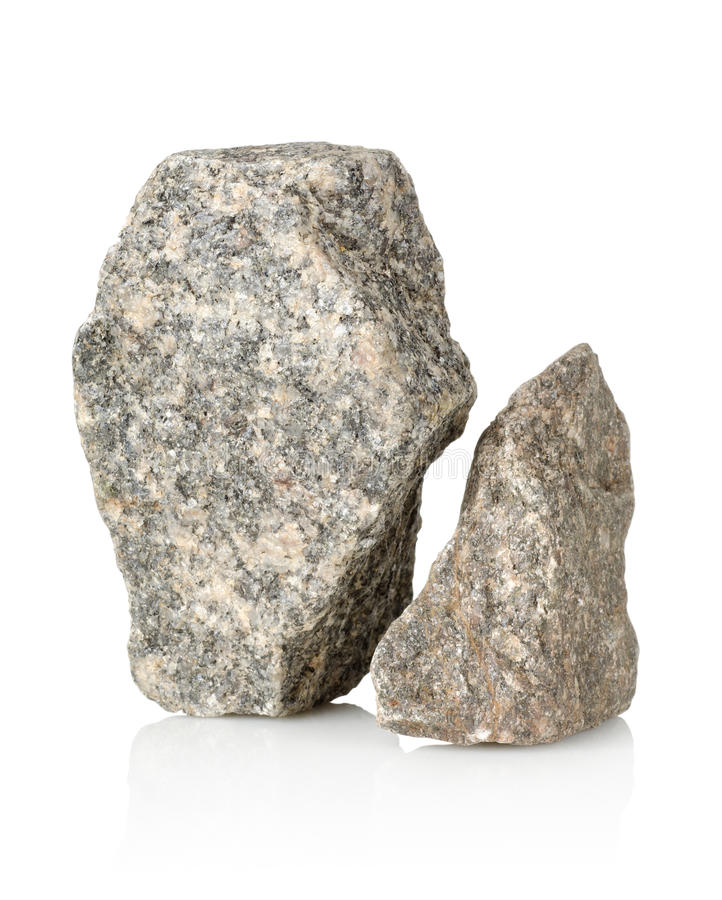 Two stones. Heap a stones on a white background stock photography