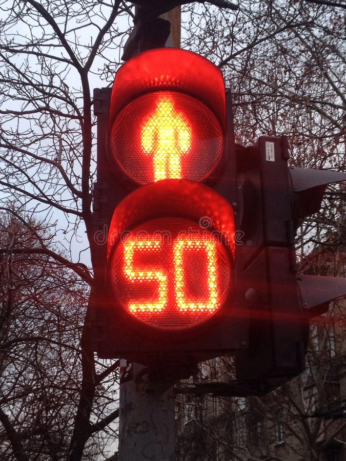 Two stop lights royalty free stock photo