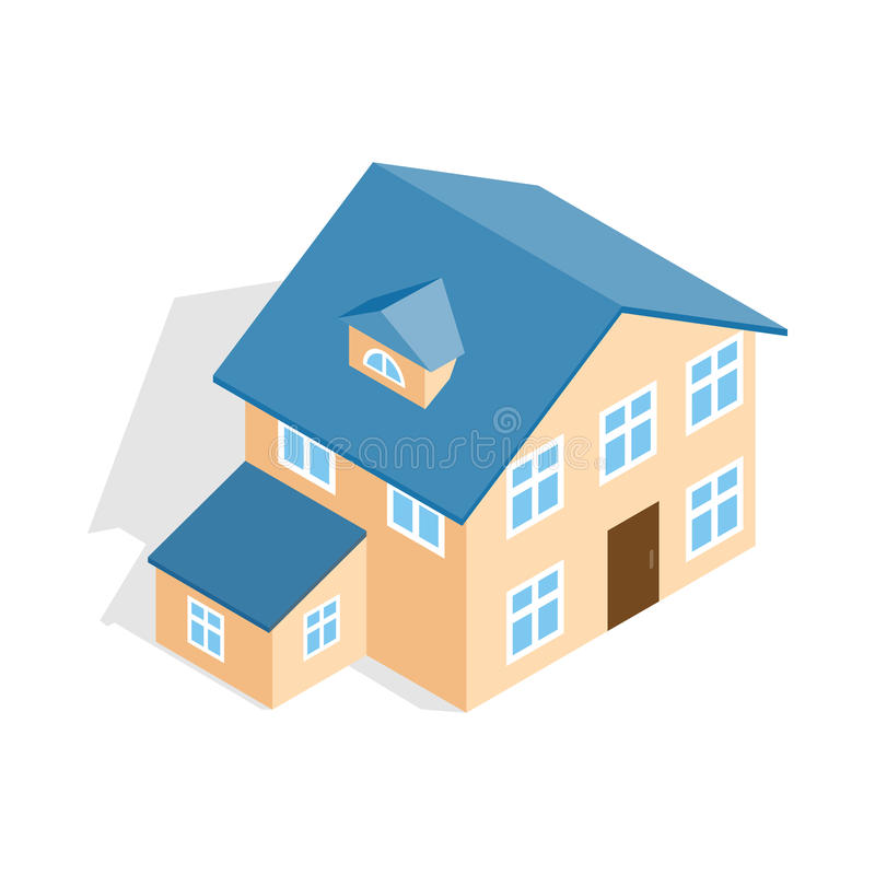 Download Two Storey House With Annexe Icon Stock Vector   Illustration Of  Isolated, Building: