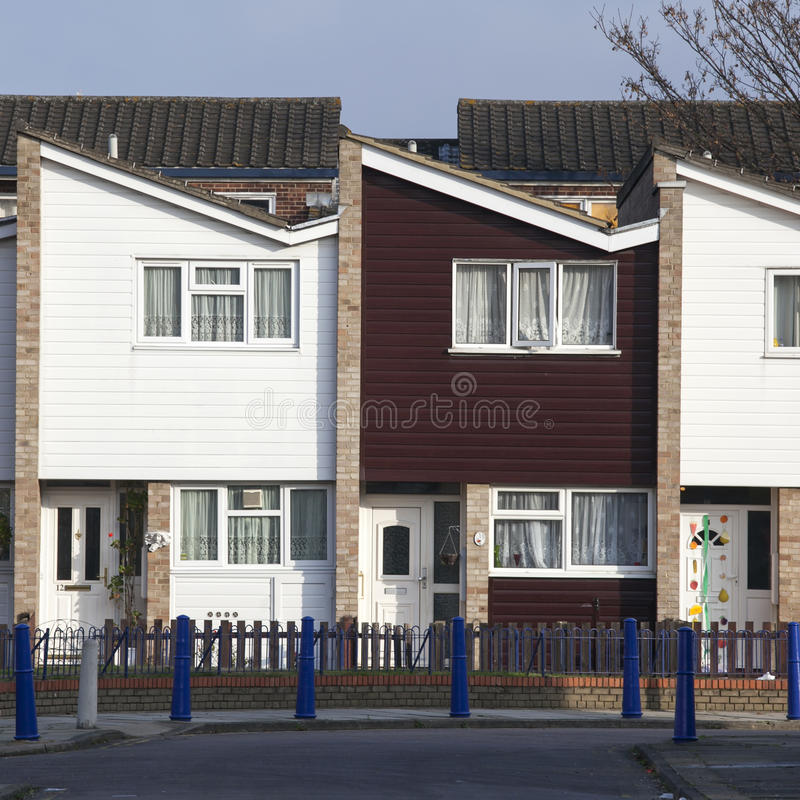 Two-storey house in London. Blue sky royalty free stock photo