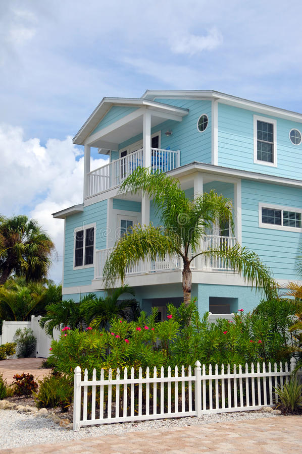 Two Story Beach House stock image Image of shore residence 27491403
