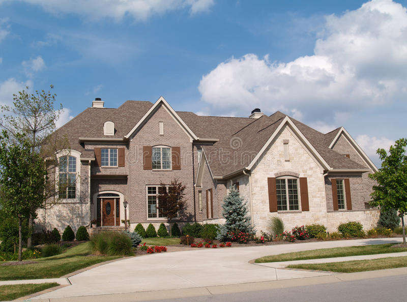 Download Two Story Brick And Stone Home Stock Image - Image: 10962377
