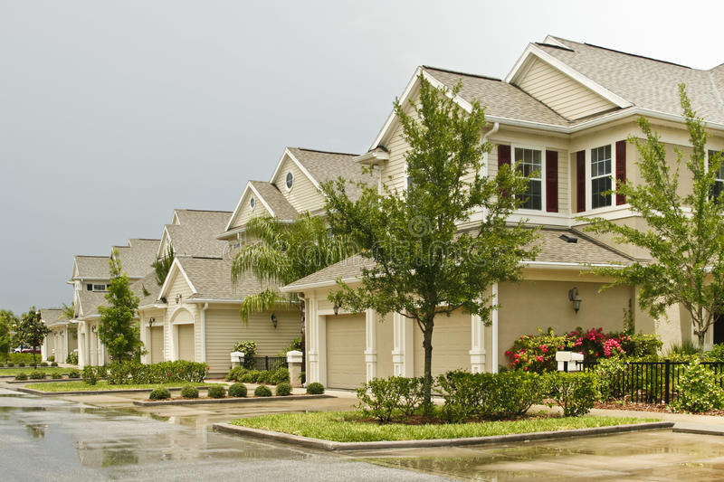 Download Two-story condos stock image. Image of houses, color - 19799397
