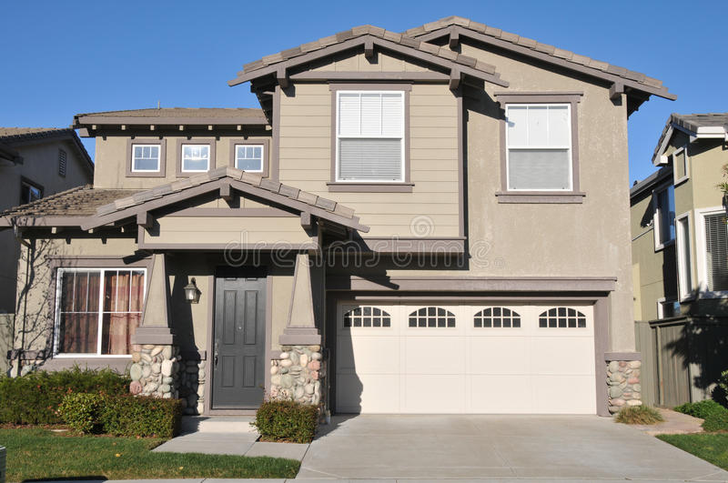 Download Two Story Single Family House With Driveway Stock Image - Image: 23538123
