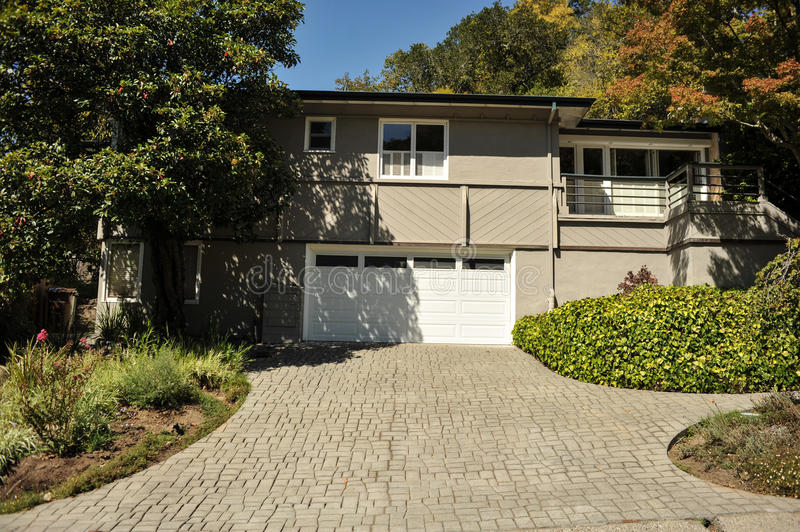 Download Two Story Single Family House With Driveway Stock Photo - Image: 26660030