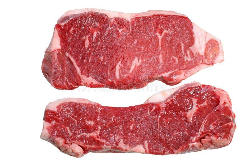 Two Strip Loin Steaks stock photo