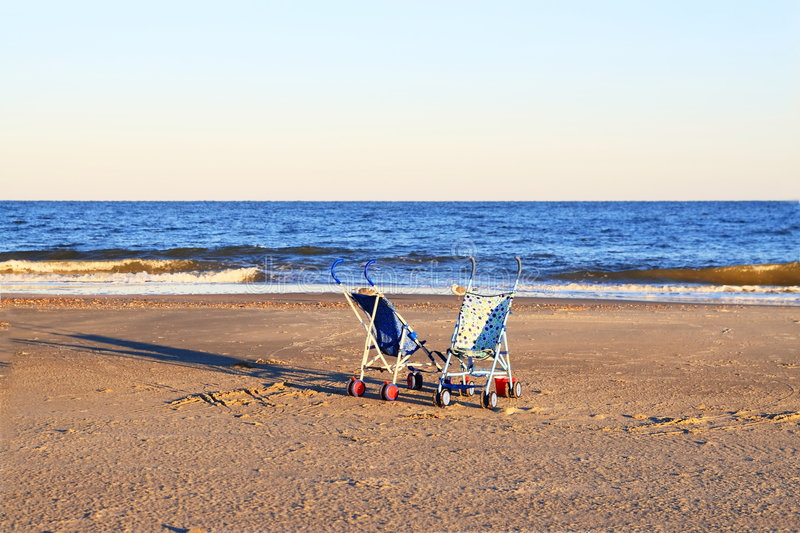 Download Two Strollers On Beach Royalty Free Stock Photos - Image: 7816278