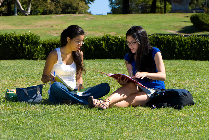 Two students stock photo