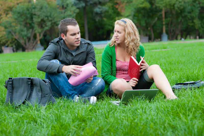 Download Two Students Relax And Talking Stock Photo - Image: 16669778