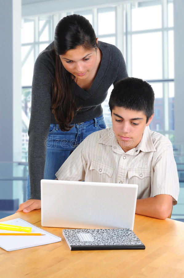 Download Two Students Studying Together Stock Photo - Image: 17902886