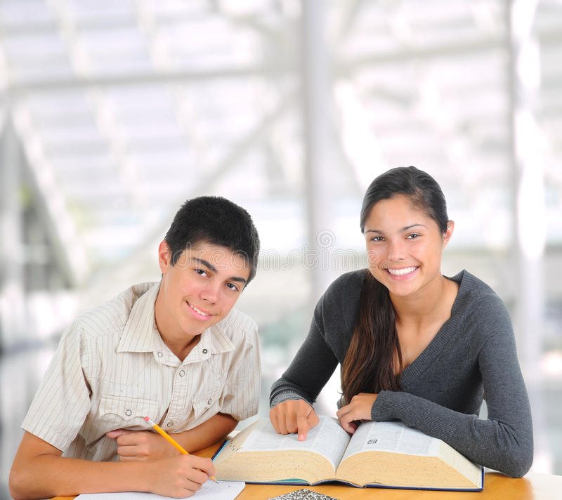 Download Two Students Studying Together Stock Photo - Image: 17902890