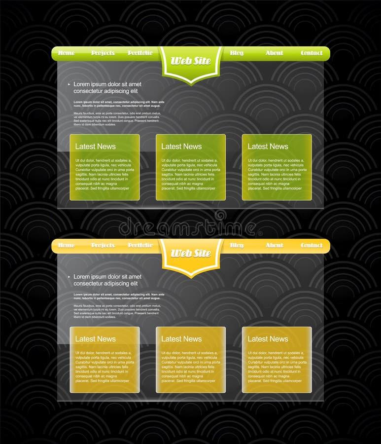 Two stylish website templates. Vector art royalty free illustration