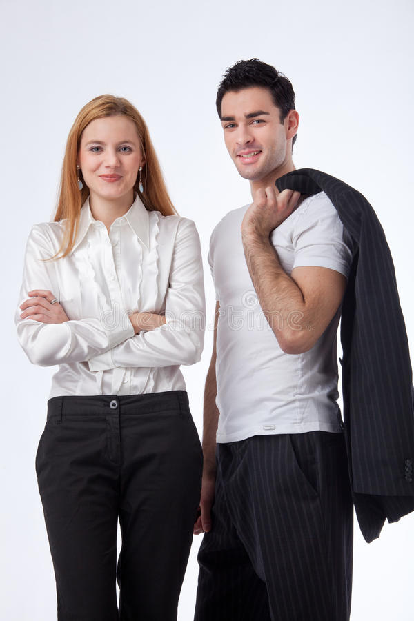 Two successful colleagues stock photos