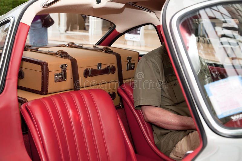 Two Suitcases In The Car Royalty Free Stock Photos