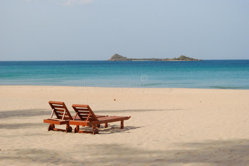 Download Two sunbed stock image. Image of lanka, indian, package - 41877697