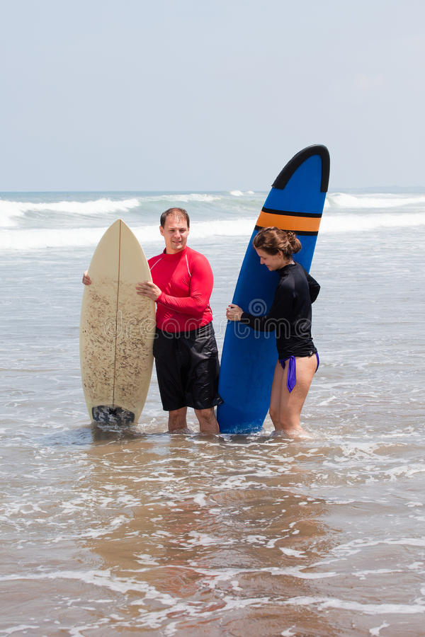 Download Two Surfers On An Ocean Coast Stock Photo - Image: 25136460