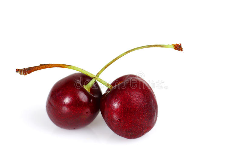 Download Two sweet cherries stock photo. Image of love, feeling - 25802282