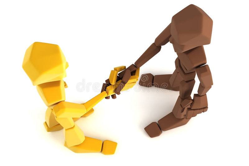 Download Two Symbolic Human Make An Agreement Stock Illustration - Image: 5312692