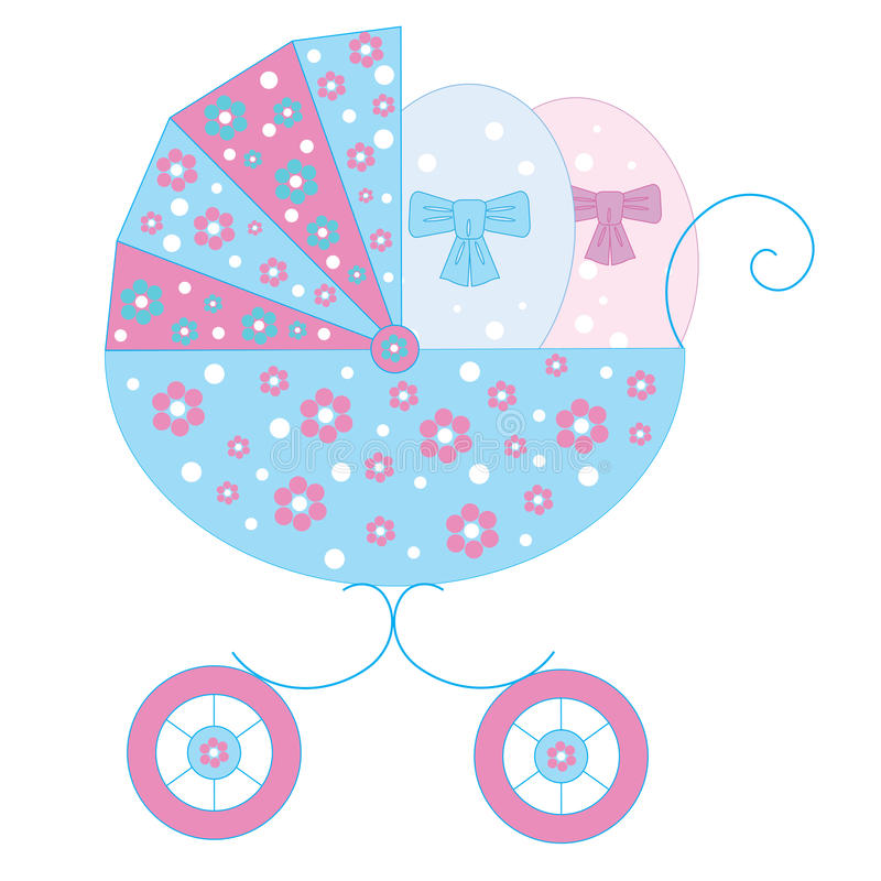 Download Two symbolic newborns stock vector. Image of pattern - 21190690