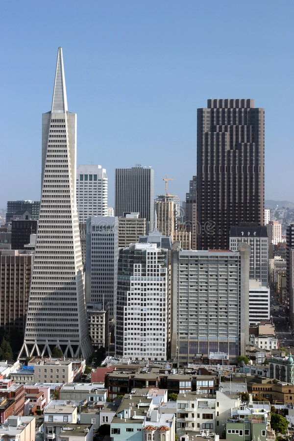Two Tallest Buildings in San Francisco stock photos