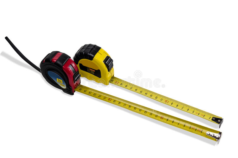Two tape measure stock photos