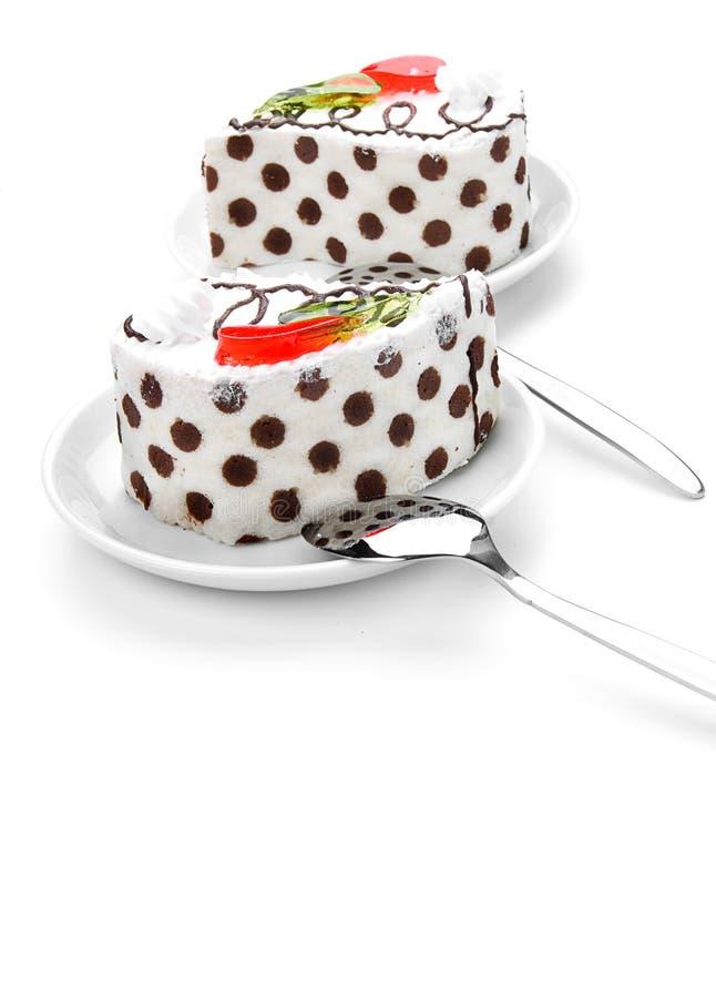 two tasty cake stock photo