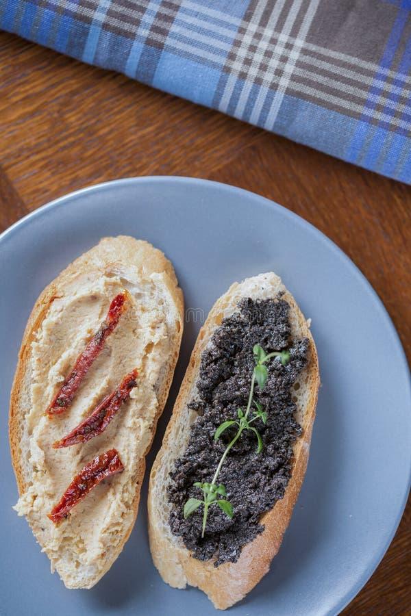 Two tasty sandwiches stock photo
