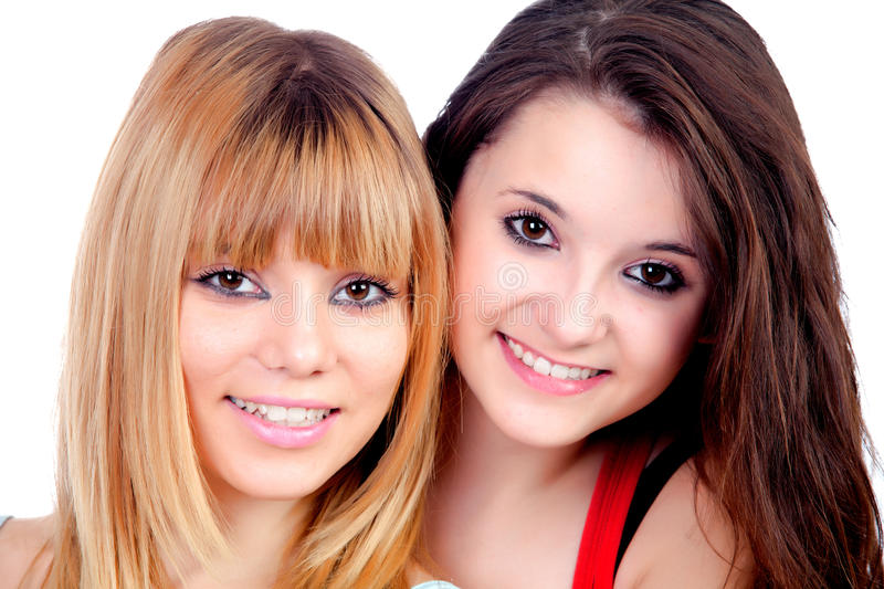 Download Two teen sisters stock image. Image of happy, beautiful - 33732137