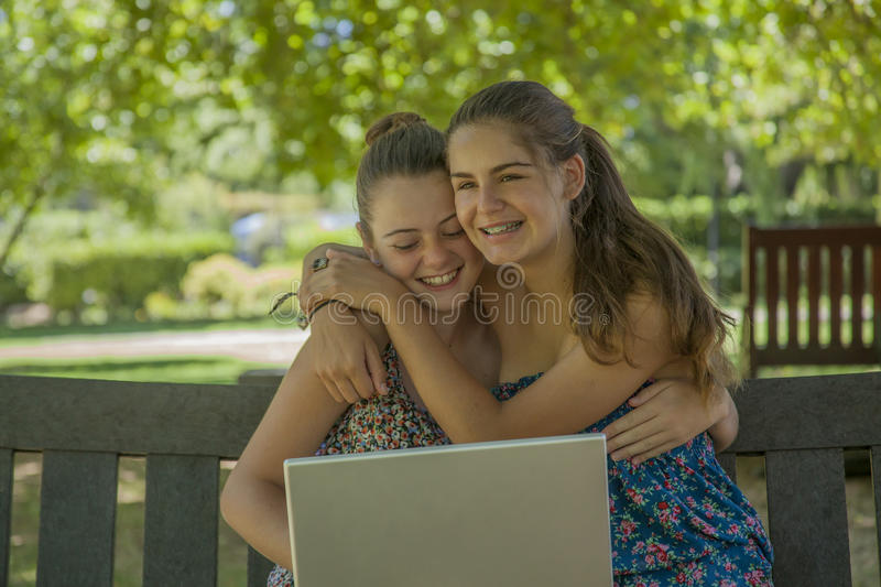 Download Two teenage girls stock image. Image of faces, people - 28819667