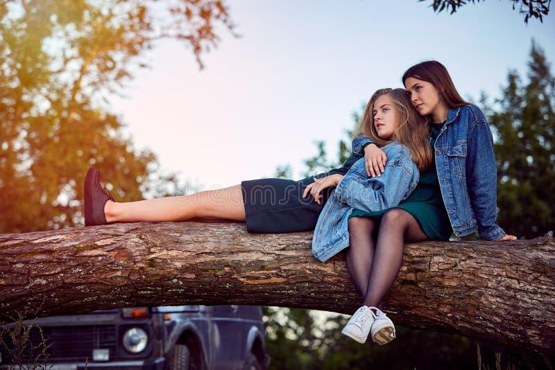 Girls summer secrets royalty free stock image