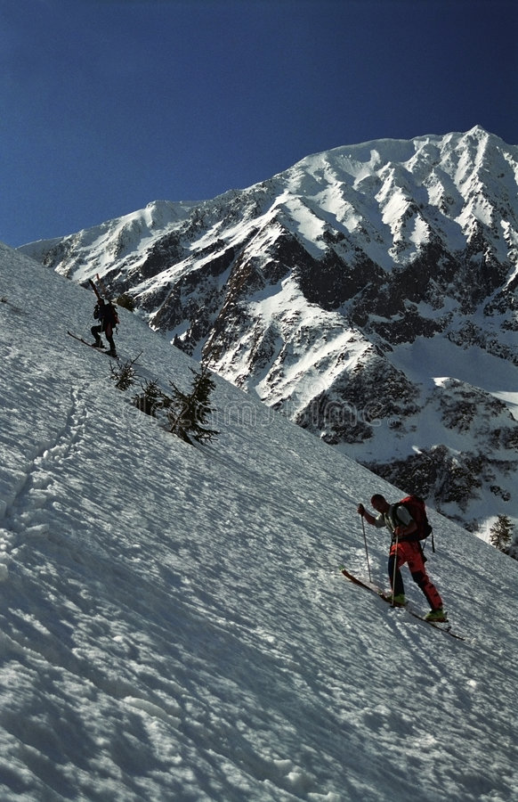 Download Two Telemark Skiers Stock Photos - Image: 1842323