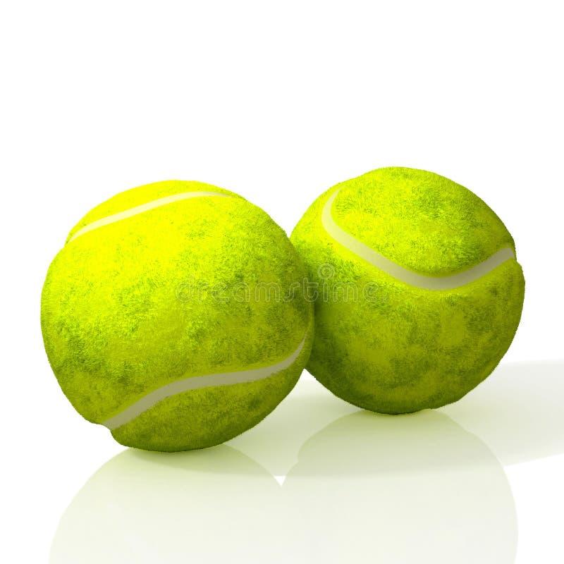 Two tennis balls. 3D Illustration vector illustration