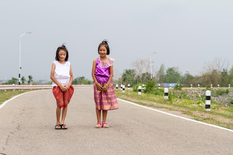 Two Thai girls stock image