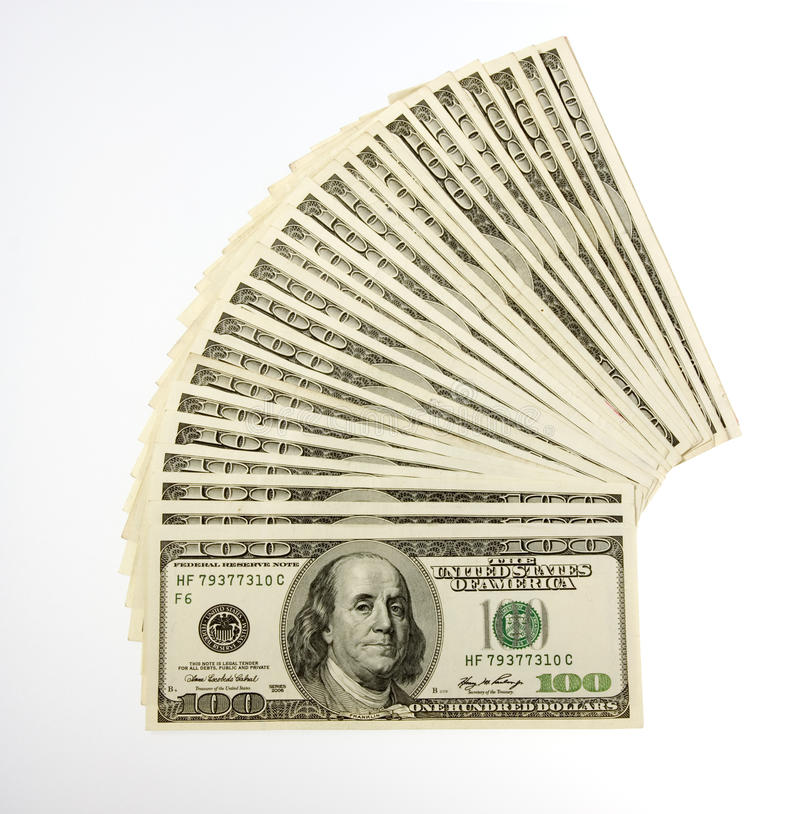 Two Thousand Five Hundred Bills royalty free stock photos