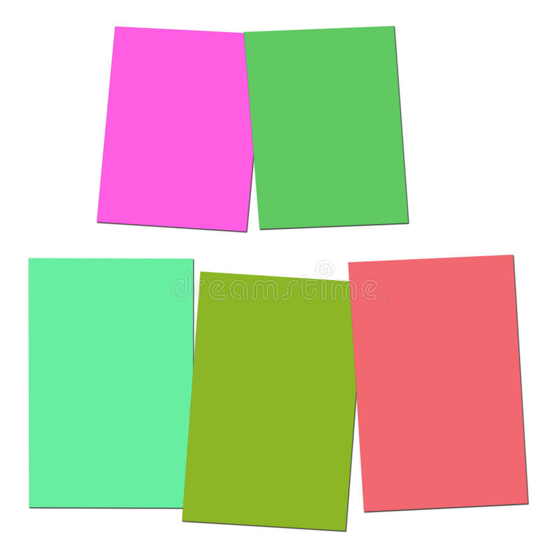 Two And Three Blank Paper Slips Show Copyspace For 2 Or 3 Letter. Two And Three Blank Paper Slips Showing Copyspace For 2 Or 3 Letter Words vector illustration