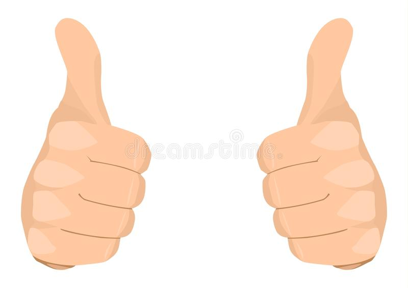 Two Thumbs Up royalty free illustration
