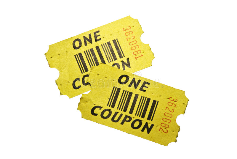 Two Tickets/Coupons/Retro Stock Images