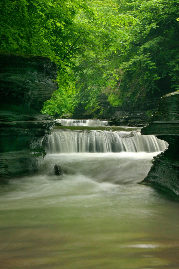 Two Tiered Waterfalls stock photo