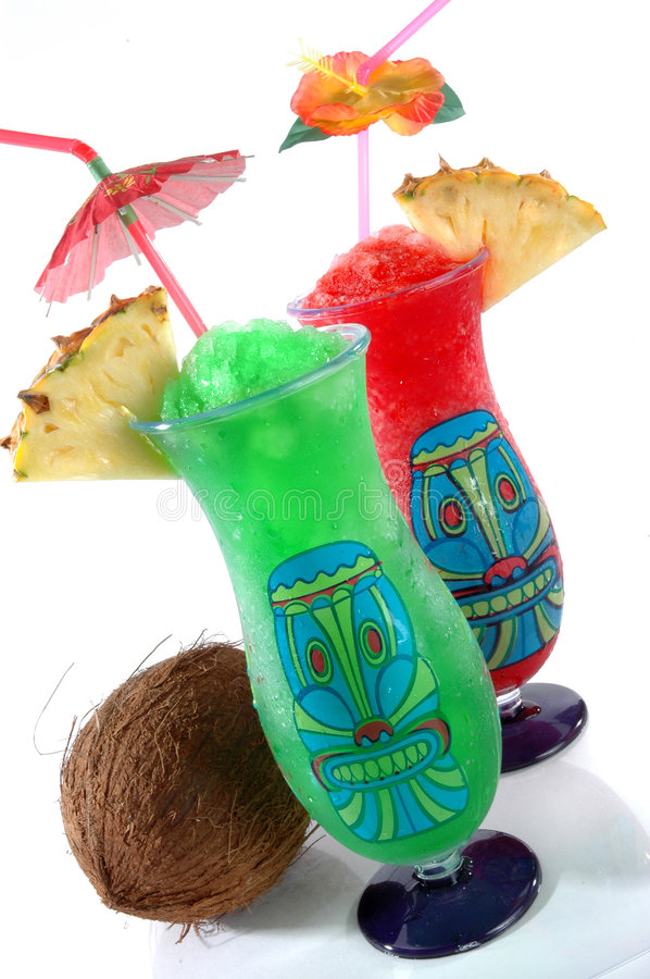 Download Two Tiki Tropical Drinks stock image. Image of green, beverage - 432921