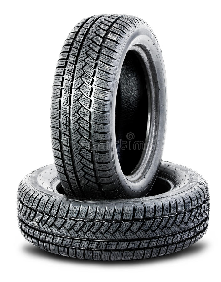 Download Two Tires On The White Background Stock Photo - Image: 26962650