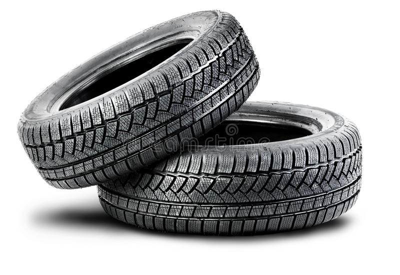 Download Two Tires On The White Background Stock Photo - Image: 26962978