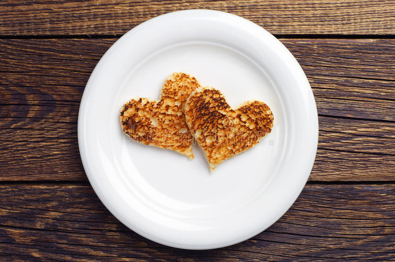 Download Two Toast Bread In The Shape Of Hearts Stock Image - Image of sliced, white: 39504821
