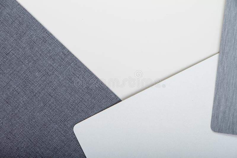 Two-tone white and gray textural colored background, minimalistic concept or background.  royalty free stock photos
