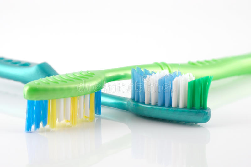 Download Two tooth-brushes stock image. Image of closeup, denture - 28697241