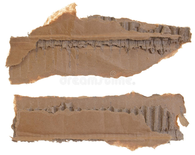 Download Two torn cardboard pieces stock image. Image of grunge - 25381101