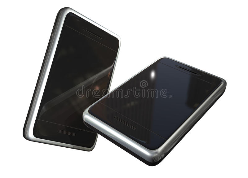 Download Two touch screen phones stock image. Image of image, electronic - 10119989