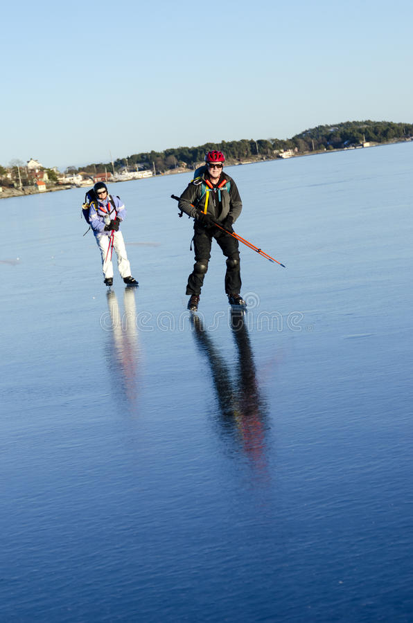 Download Two Tour Skaters On Smoth Ice Stock Photo - Image: 29603674