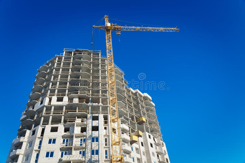 Download Two Tower Cranes Building Stock Photo - Image: 83720536